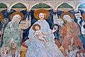 Zweinitz Pfarrkirche hl Egydius Chor S-Wand got Fresko Sacra Conversazione Ausschnitt 22102014 571.jpg
