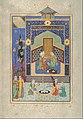 """Bahram Gur in the Green Palace on Monday"", Folio from a Khamsa (Quintet) of Nizami MET DT4787.jpg"