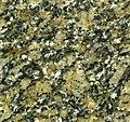 """Crystal Gold Granite"" (porphyritic granite, English River Subprovince intrusion, 2.66-2.71 Ga, Neoarchean; Second Mountain Quarry, western Ontario, Canada) (14803135864).jpg"