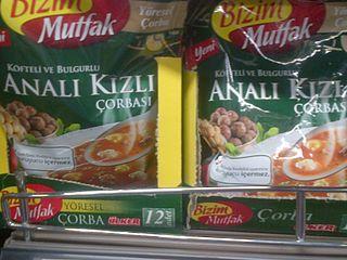 Analı kızlı soup soup from the cuisine of Turkey