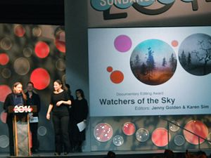 """Watchers of the Sky - Image: """"Watchers in the Sky"""" Wins Documentary Editing Award (12186663276)"""