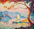 'Antibes. Petit Port de Bacon' by Paul Signac, 1917.jpg