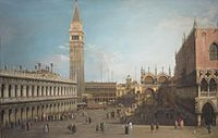 'The Piazzetta, Venice, Looking North' by Canaletto, Norton Simon Museum.JPG