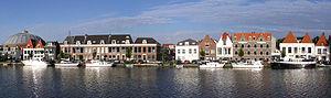 Spaarne - Image: (Haarlem)The houses along the Spaarne River, Netherlands