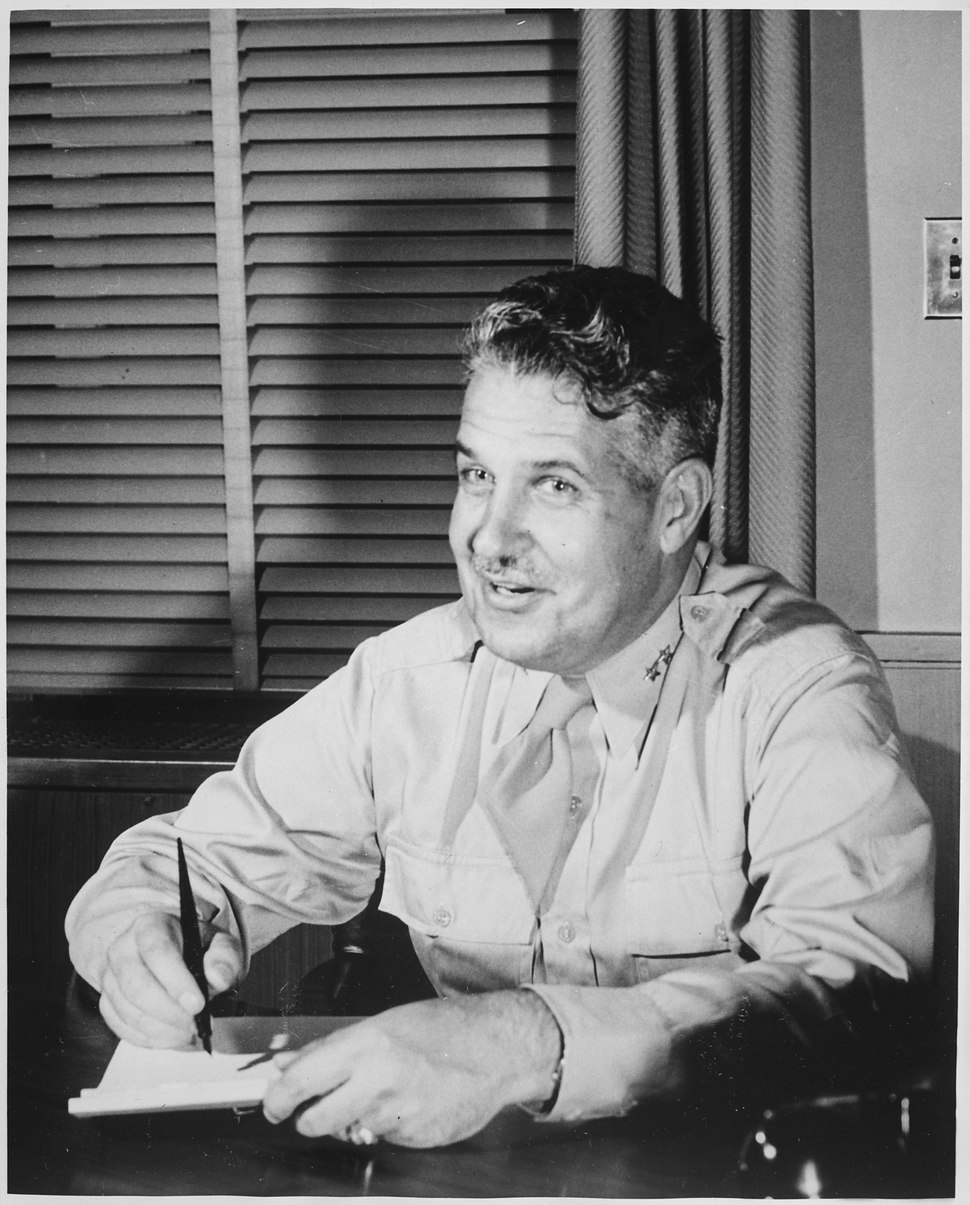 (Major General Leslie R. Groves, in charge of the Manhattan Project.) - NARA - 535931