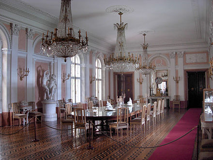 Dining Room in the Łańcut Castle, Poland