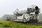 Вывоз и установка ракеты космического назначения «Ангара-1.2ПП» на стартовом комплексе космодрома Плесецк 04.jpg