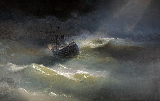 Иван К. Айвазовский - Корабль Мария во время шторма (1892)