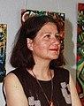 Кристин Юрукова,писателка и художничка, на нейна изложба в Пловдив през 2013г.jpg