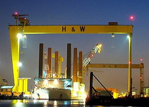 Belfast's big yellow cranes