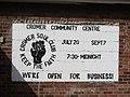 -2019-09-13 Poster sign, Cromer Northern Soul Club, Cromer community centre..JPG