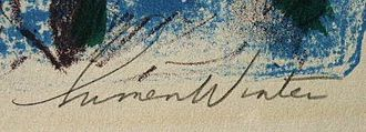 Lumen Martin Winter - Photo of Lumen Martin Winter's signature from one of his prints