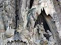 069 Sagrada Família, façana del Naixement, porta de la Fe, àngels i presentació al Temple.jpg