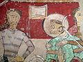 098 Santa Maria de Terrassa, martiri de Sant Tomàs Becket, pintura romànica.JPG
