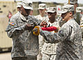 101st STB headquarters cases unit colors in Liberia 150126-A-KO462-138.jpg