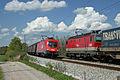 1116 028 und 1144 227 der ÖBB begegnen sich in Weiching Bayern.JPG