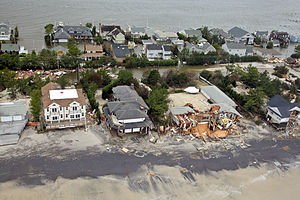 Effects of Hurricane Sandy in New Jersey - Damage in Mantoloking