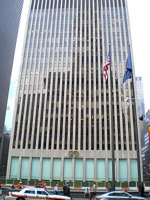 1251 Avenue of the Americas - The base of 1251 Avenue of the Americas