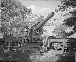 BL 12-inch railway howitzer - Mk III at Wareham, Dorset, 26 February 1941