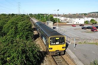 Bristol–Exeter line - Image: 143621 at Weston Milton