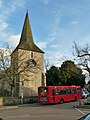 146 bus at Downe Church terminus - geograph.org.uk - 2774841.jpg