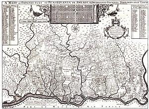 Perkiomen Creek - Image: 1687Tho Holme Map