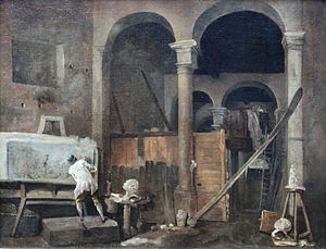 Hubert Robert - The Artist's Studio, 1760, Städelsches Kunstinstitut