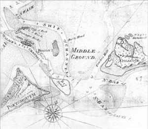 1815 North Carolina hurricane - Image: 1795 Ocracoke Inlet map Jonathon Price