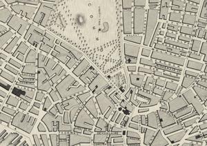 Tremont Row - Image: 1838 Tremont Row Temont St map Tallis Boston BPLM8774