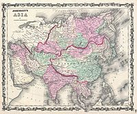 1861 Johnson Map of Asia - Geographicus - Asia-johnson-1861.jpg