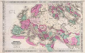 Mesopotamia (Roman province) - Map showing the Mesopotamia province