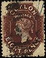 1867ca 8d Ceylon used Yv38 Mi37II SG68chocolate.jpg