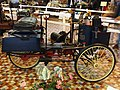 1885 De Dion Bouton tricycle with front mounted boiler and water tank and coal chest on each side of rear wheel at the Musée Automobile de Vendée pic-4.JPG