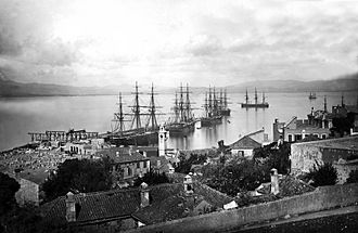 "South Mole, Gibraltar Harbour - The ""New"" Mole in the 1890s."