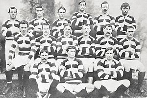 Auckland rugby union team - Image: 1904 Auckland team that faced the British Isles cropped