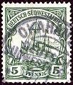 1906issue 5pfg Deutsch-SWA Okahandja Yv27 Mi25.jpg