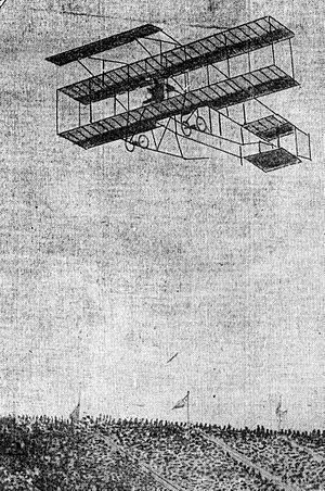 1910 in aviation - A Farman III flying in 1910