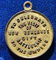 1913 Medal HMS NZ Battleship NZ Visit, reverse.jpg