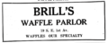 1922 Brills Waffle Parlor advert 1st Avenue in Miami Florida.png