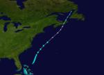 1933 Atlantika tropika ŝtormo 19 track.png