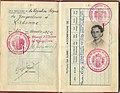 1942 issued government in exile passport by Chargé d'affaires in Portugal Milutin Milovanovic.jpg