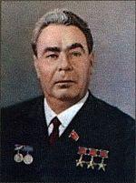 Portrait officiel de Brejnev, datant de 1977.