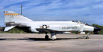 154th Wing - 199th Tactical Fighter Squadron F-4C Phantom 63-7632 in Air Defense interceptor markings.