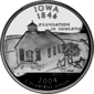 Iowa quarter dollar coin