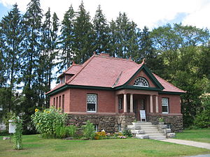 National Register of Historic Places listings in Windsor County, Vermont - Image: 2006 library Pomfret Vermont 241047150