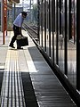 2007-08-26 JR- Yakujin Station,Kakogawa Line JNR103系改造車両 横尾忠則「走れ!Y字路」 8260241.JPG