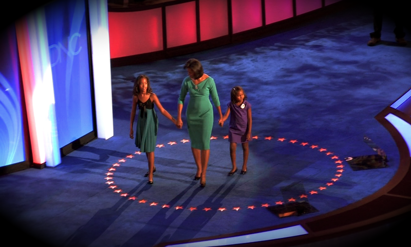 File:20080825 Michelle Obama With Daughters at 2008 Democratic National Convention.png