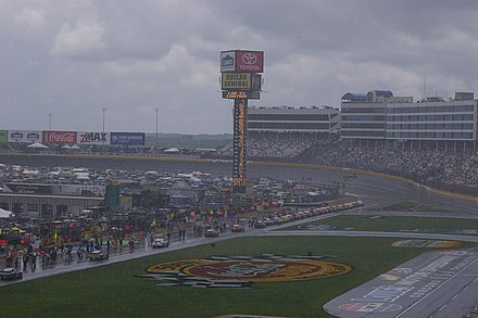 A rainy day at Charlotte Motor Speedway 2009 Coca-Cola 600.jpg