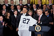2009 World Series Champions and Barack Obama.jpg