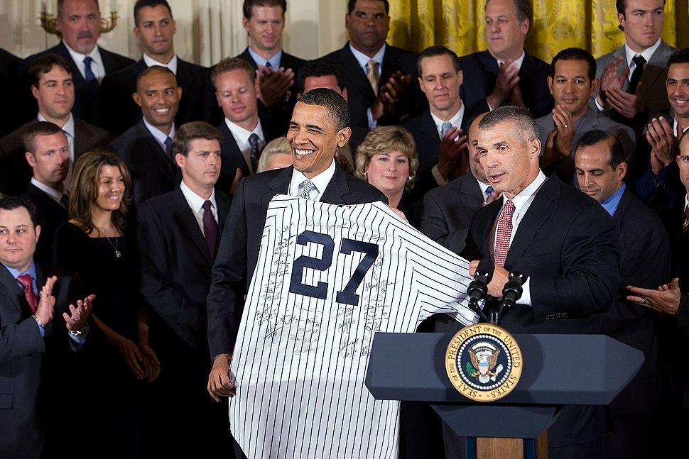 2009 World Series Champions and Barack Obama